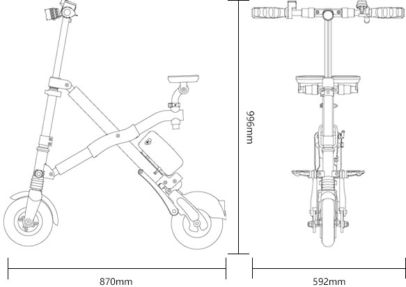 foldable e bike